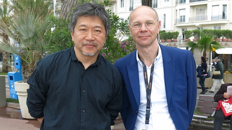 Hirokazu Kore-eda intervjuas i Cannes av Kulturnytt.