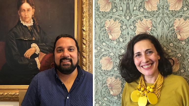 Den amerikanska tv-producenten Vijal Patel och den libanesiska skådespelerskan Julia Kassar är två av gästerna på Internationella komedifilmfestivalen i Stockholm.