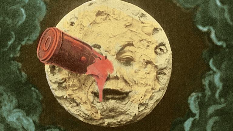"""Stillbild från Georges Méliès """"Le Voyage dans la lune"""" (1902)"""