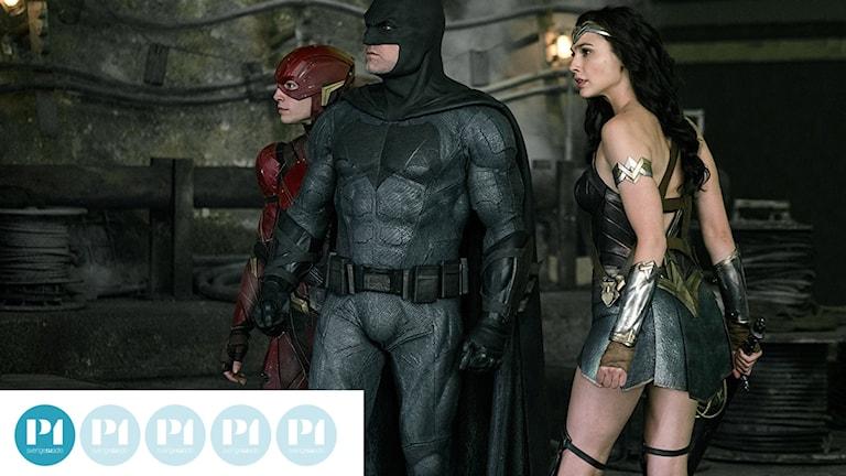 Flash, Batman och Wonder Woman i Justice League. Foto: Warner Bros.