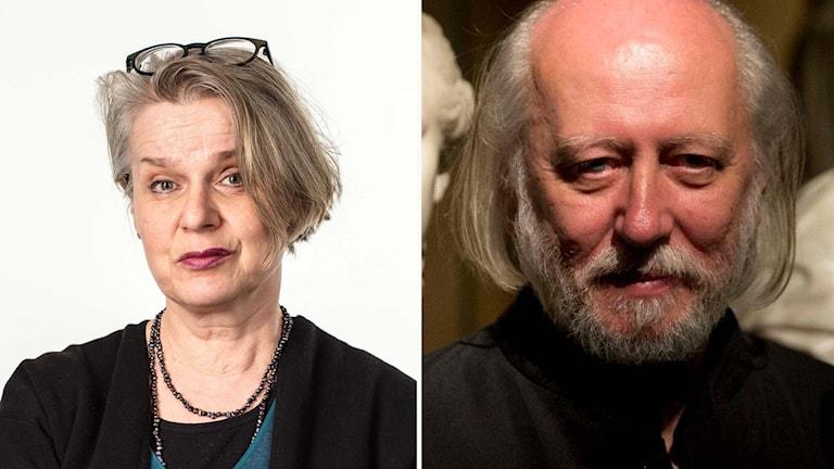 Katarina Wikars och László Krasznahorkai.