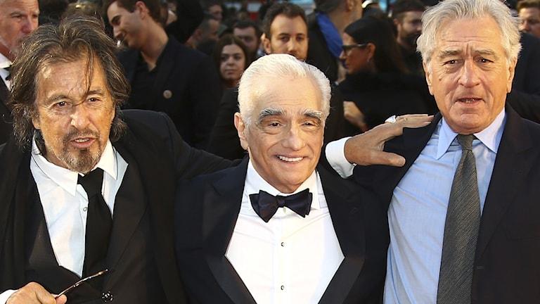 Al Pacino, Martin Scorsese och Robert De Niro.