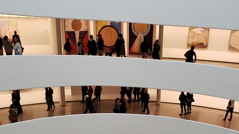 Hilma af Klints verk på Guggenheim i New York.