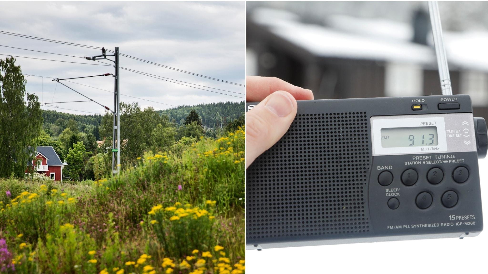 Ett hus på glesbygden och en radio.