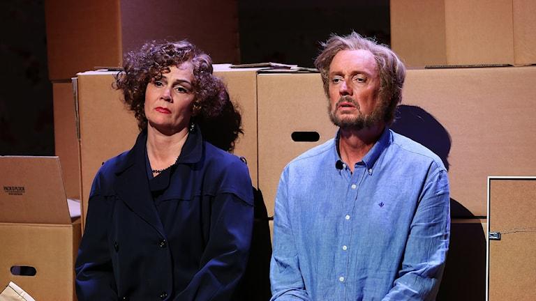 Anna Larsson och Lars Arvidson i operan Kärlekskriget