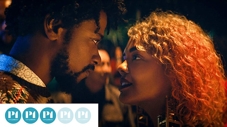 Lakeith Stanfield och Tessa Thompson i Sorry to bother you. Foto: NonStop Entertainment.