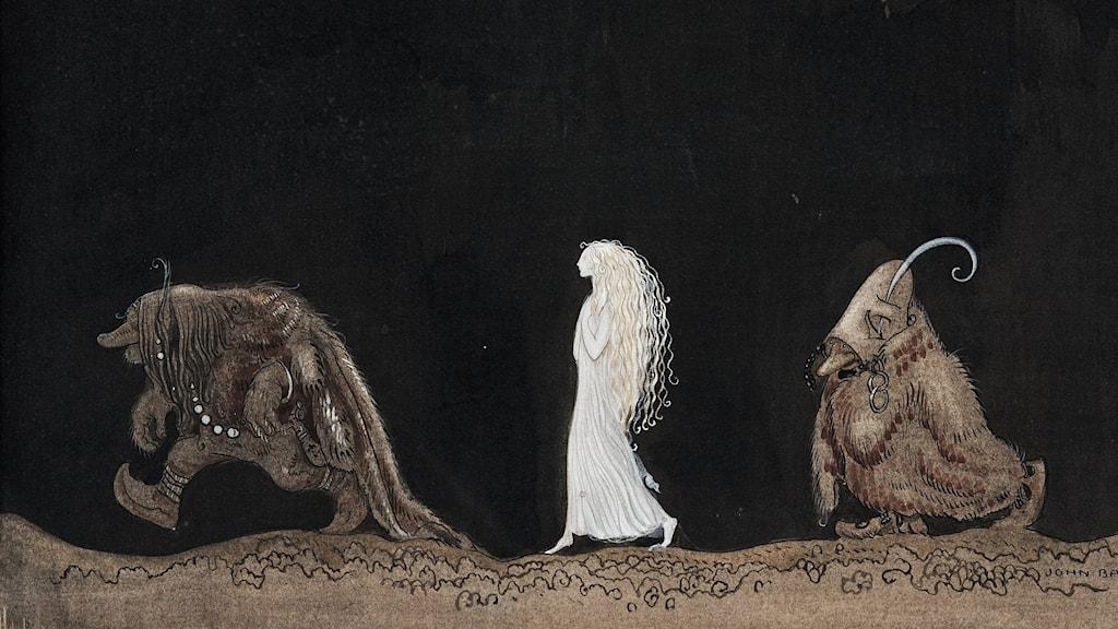 John Bauer: Bianca Maria och trollen (1913)