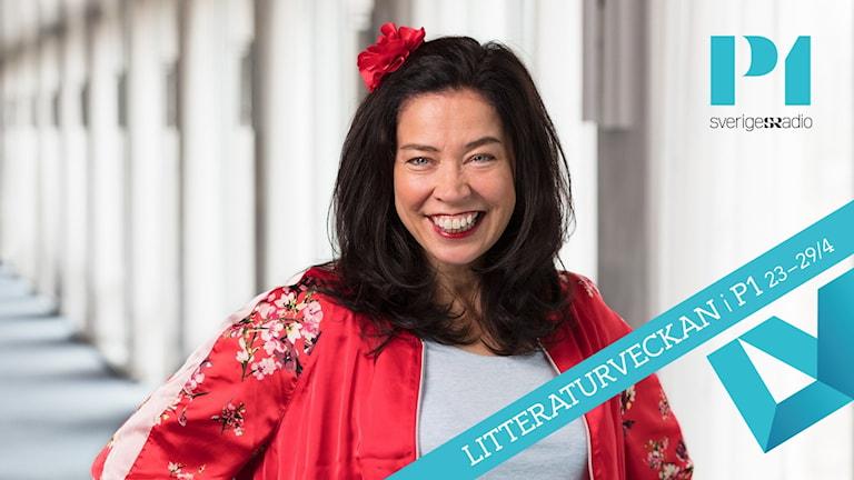 Marie Lundström är värd för Litteraturveckan i P1.