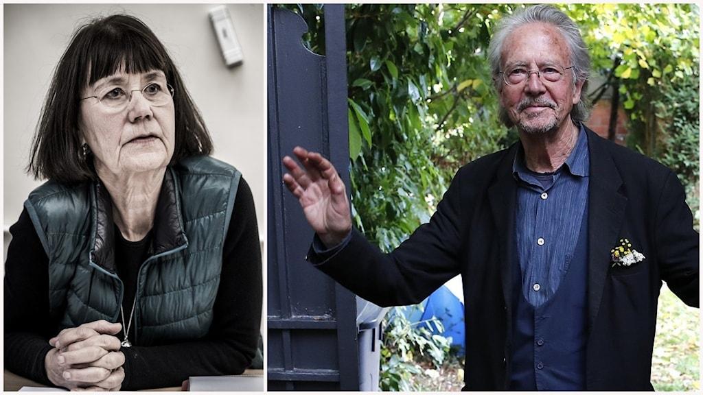 Kollage med Gunilla Lundgren, författare som är engagerad i Rinkeby och Nobelprisvinnaren i litteratur Peter Handke.