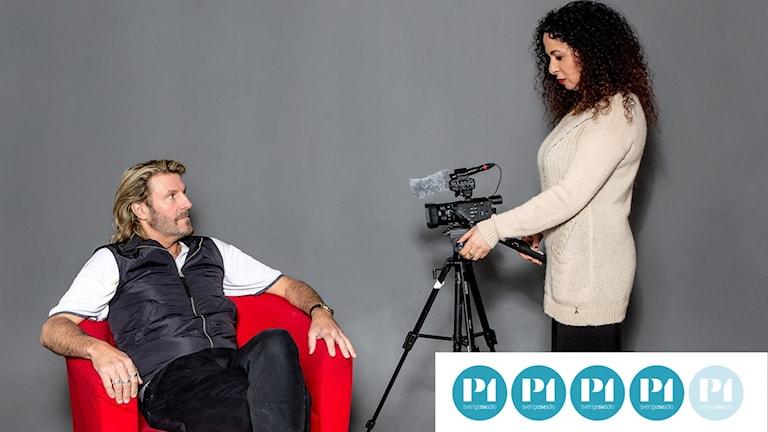 Anders Rosén och Nahid Persson gör film tillsammans.