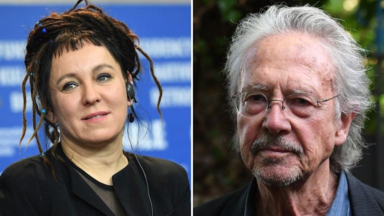 Nobelpristagarna Olga Tukarczuk och Peter Handke.