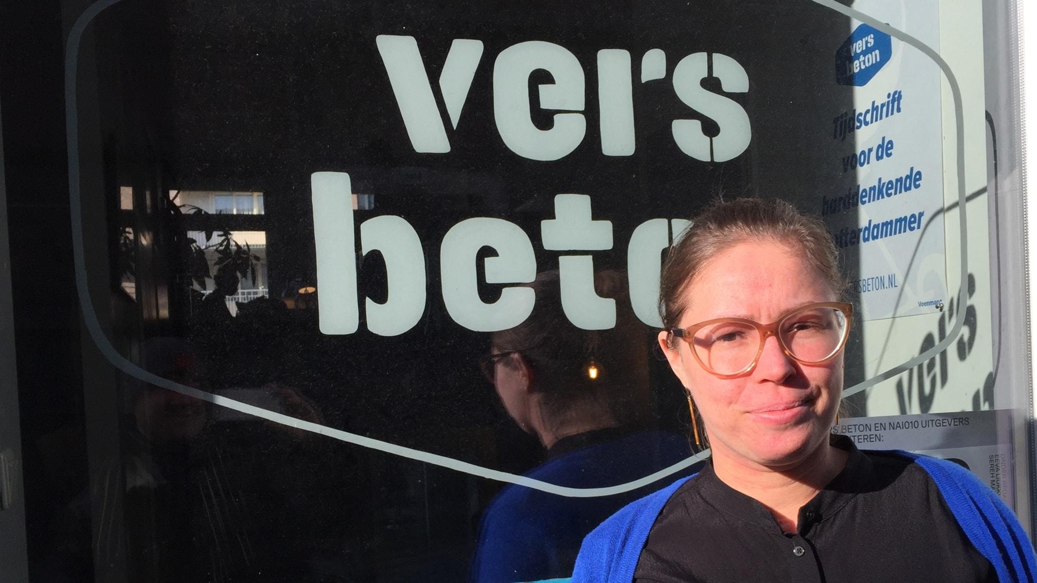Eeva Liukku, chefredaktör på nättidningen Vers Beton i Rotterdam. Foto: Fredrik Wadström