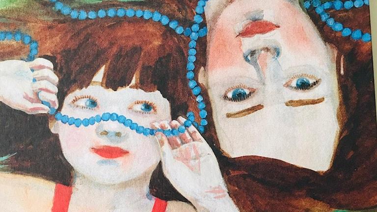 """Omslaget till barnboken """"Dyksommar"""", illustrerad Sara Lundberg."""