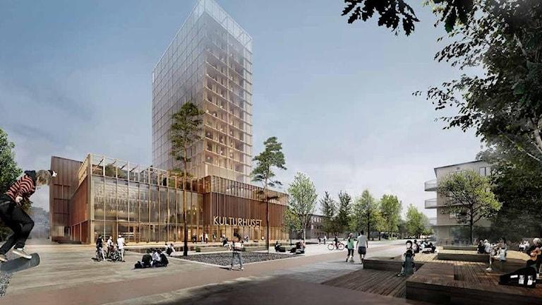 Det vinnande bidraget för Skellefteå kulturhus och hotell