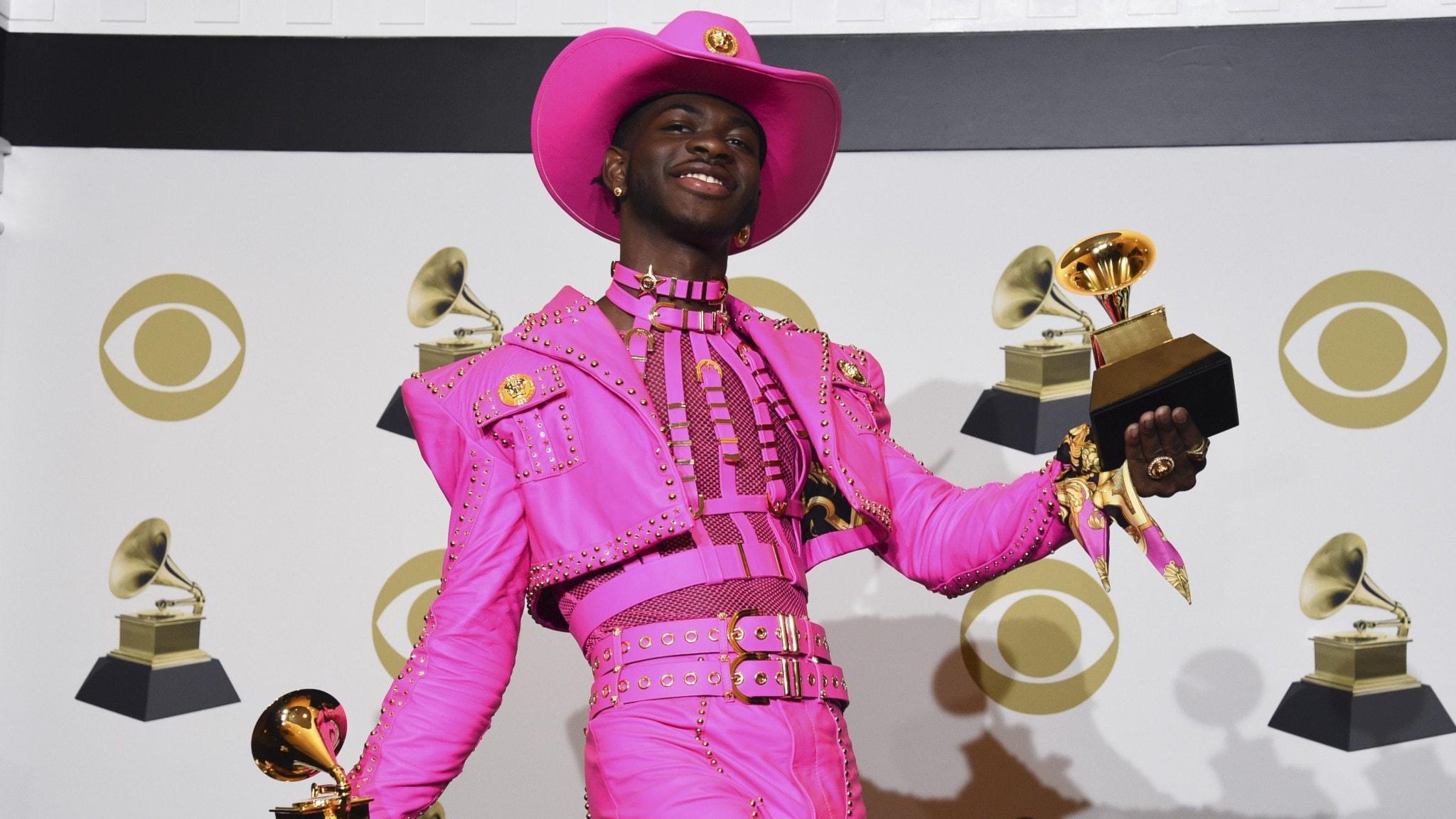 Lil Nas X vid Grammys-galan i USA.