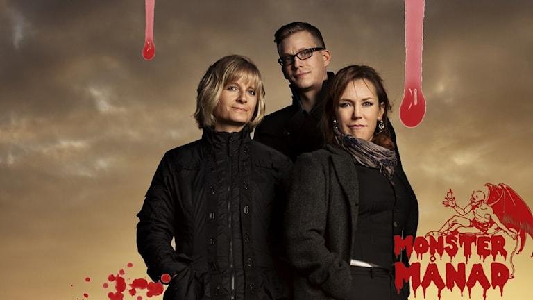 Ingela Korsell, Henrik Jonsson och Åsa Larsson. Skaparna av Paxserien.