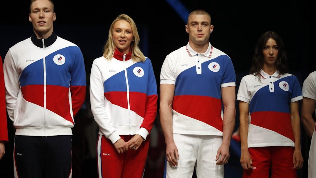 Ryska olympier får inte bära sina vanliga landslagskläder med ryska symboler.
