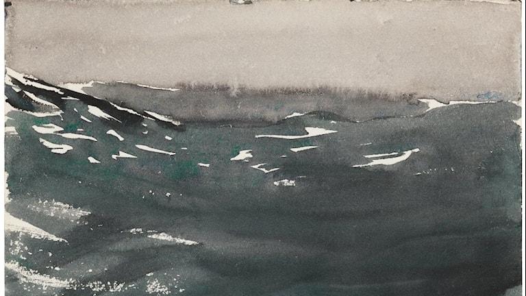 Marin. Studie från Atlanten.  Akvarell av Anders Zorn, 1894. Något beskuren.
