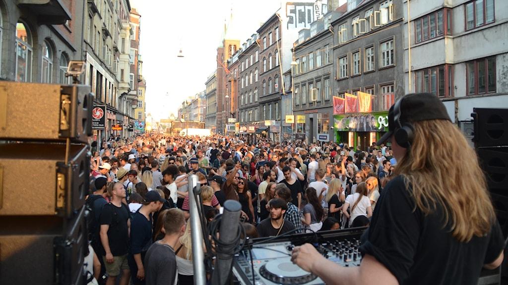 Gatufest på Distortion i Köpenhamn