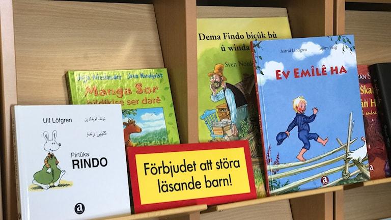 svenska böcker översatta till kurdiska
