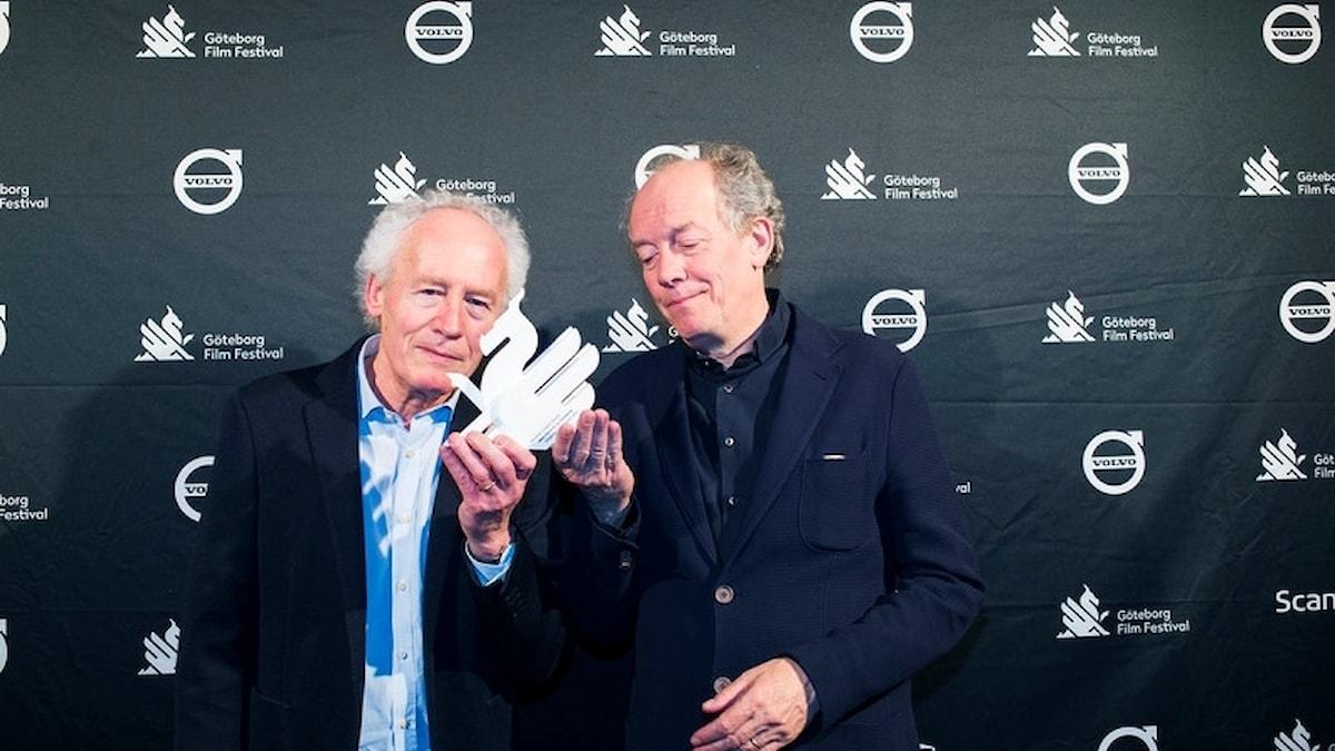 Bilden föreställer den belgiska regiduon bröderna Dardenne som får Göteborgs filmfestivals hederspris
