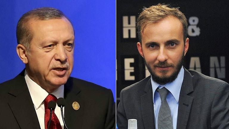 Turkiets president Erdogan, komikern Jan Böhmermann
