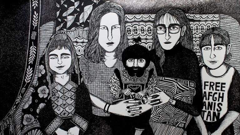 Ett verk från Moshtari Hilal