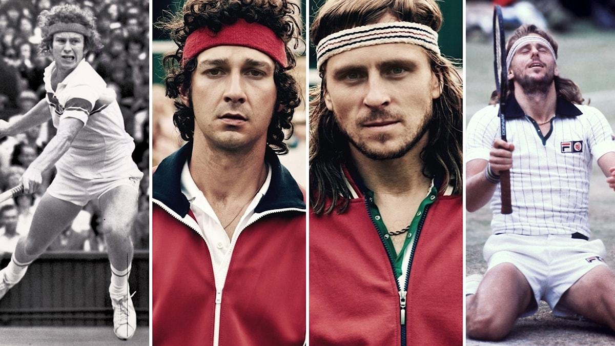 John McEnroe, Shia LaBeouf, Sverrir Gudnason, Björn Borg: Foto: Roy Letkey / Pressbild / TT