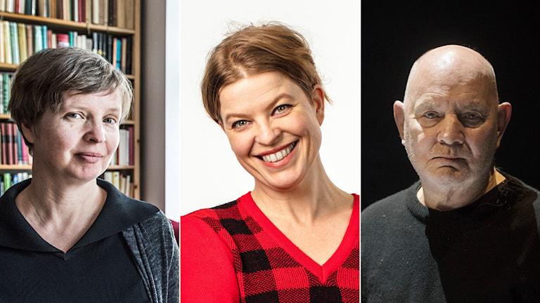 Jenny Erpenbeck, Jenny Teleman och Lars Norén.