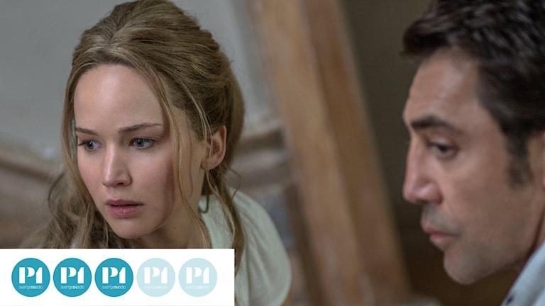 """Jennifer Lawrence och Javier Bardem i """"Mother!""""."""