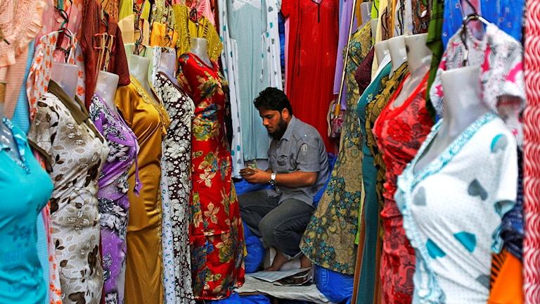 Textilindustrin i Indien näst störst efter jordbrukssektorn.