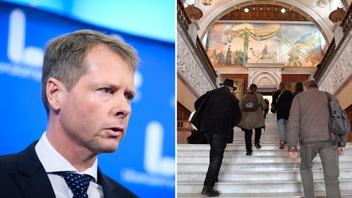 Kulturutskottets ordförande Christer Nylander (L) är kritisk till M-KD-planerna på att avskaffa den fria entrén på statliga museer.