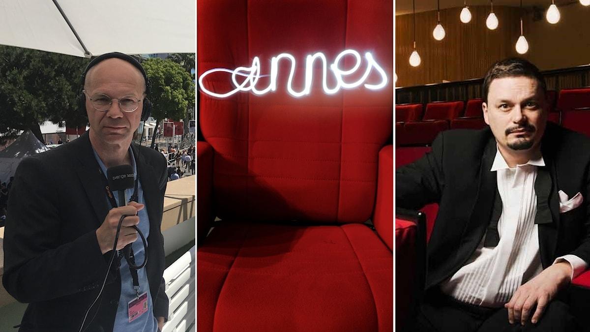 Sista sucken på filmfestivalen i Cannes med Björn Jansson och Roger Wilson.