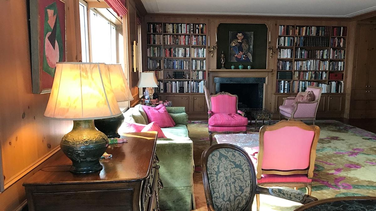 Greta Garbos vardagsrum är fortfarande inrett som när hon bodde där.