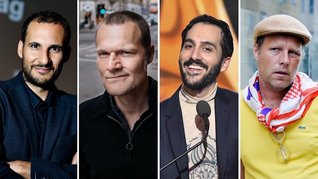 Ali Abbasi, Kasper Collin, Levan Akin och Göran Hugo Olsson.