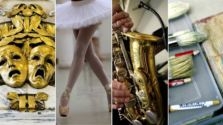 Rapporten handlar om konstnärer inom samtliga konstområden så som ord, bild och form, musik, teater, dans och film.