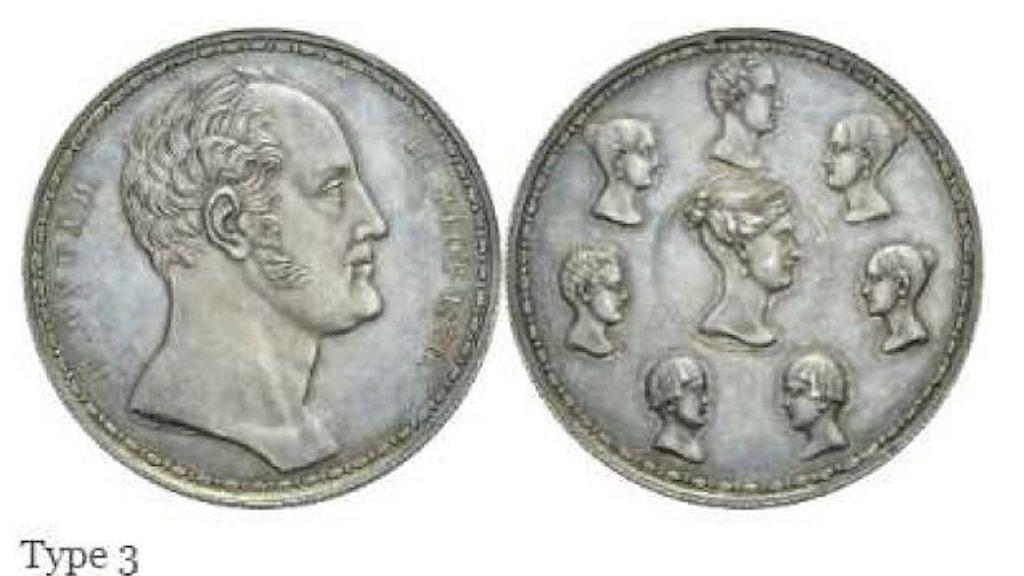 Bilder på mynten som stals. Kommer från förundersökningsprotollet i Stockholms Tingsrätt
