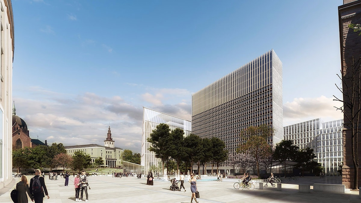 """Det vinnande förslaget till nytt regeringskvarter i Oslo heter """"Adapt"""" och ska stå klart 2027."""