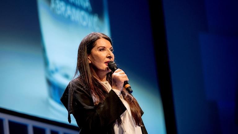 Marina Abramovic på Nobelstiftelsens dag om vatten