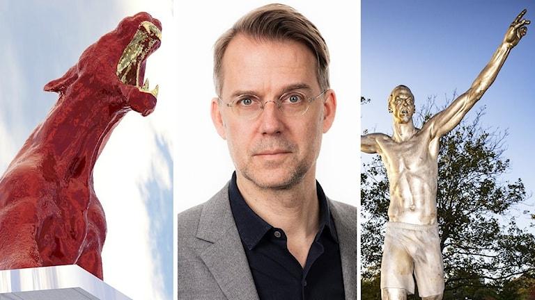 meetoo-puman Zlatanstatyn och Mårten Arndtzen