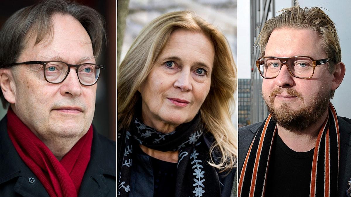 Horace Engdahl, Katarina Frostenson och Fredrik Virtanen har skrivit var sin bok om efterspelet kring metoo.