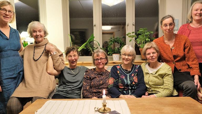 Från vänster: Carin Rosenberg, Agneta Ljung, Helli Malers, Christina Olsson, Ingrid Ekblad, Ulrika Hafström, Maria Sedell och Ulla Stenlund