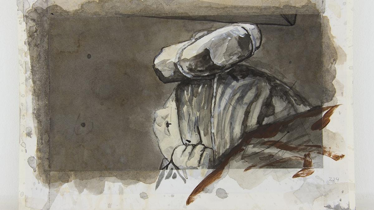 """Från """"Horungen"""" av Knutte Wester."""