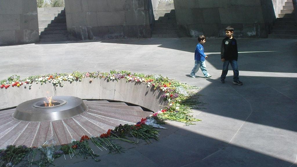 Minnesplatsen för det armeniska folkmordet i Jerevan i Armenien. Foto: Fredrik Wadström