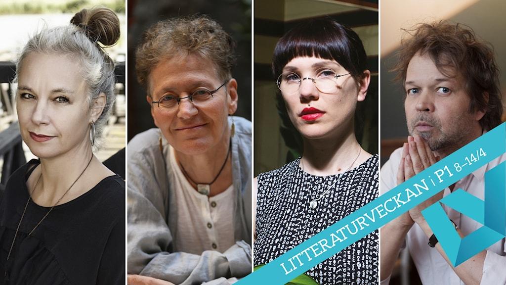 Sara Stridsberg, Lena Einhorn, Lyra Koli och Tomas Bannerhed är nominerade till Sveriges Radios Romanpris 2019.