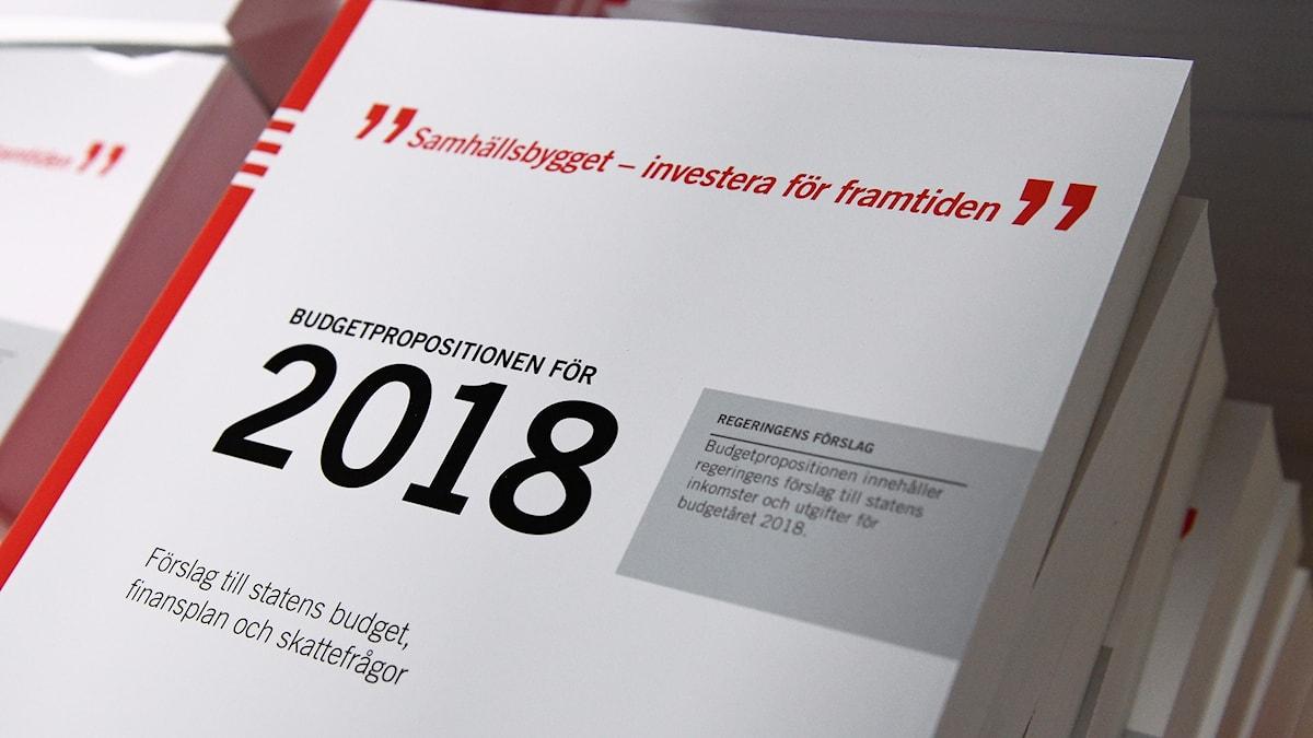 budgetpropositionen för 2018