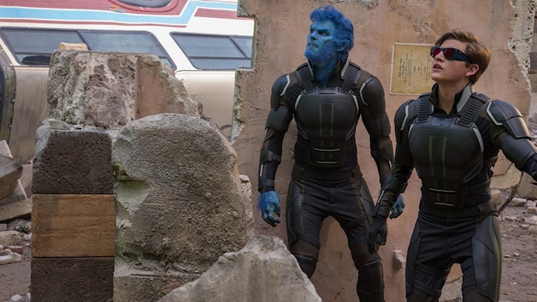 Nicholas Hoult och Tye Sheridan i X-Men Apocalypse. Foto: Fox Movies.