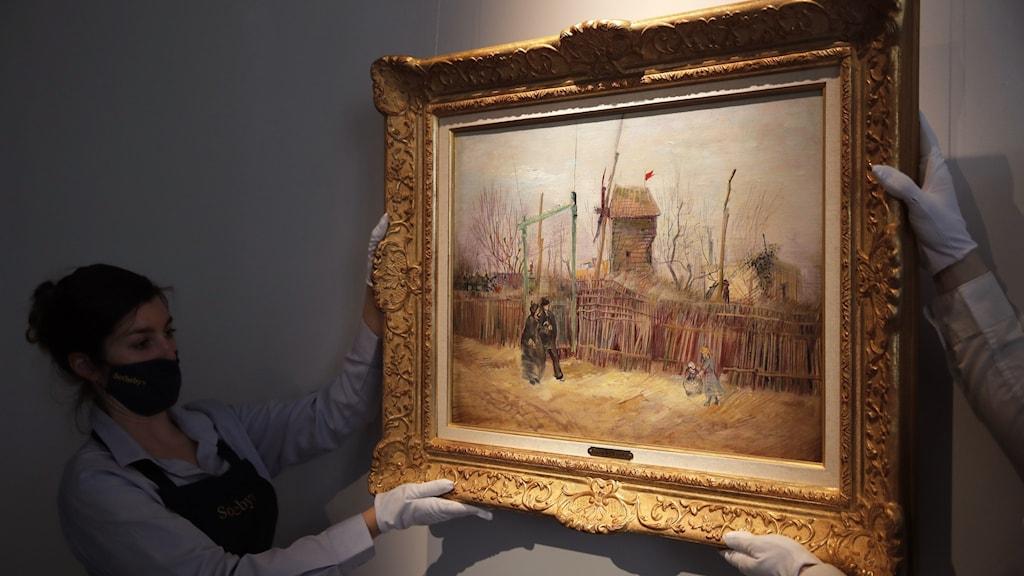Målning av Vincent van Gogh, gick för 13 miljoner euro på auktion.