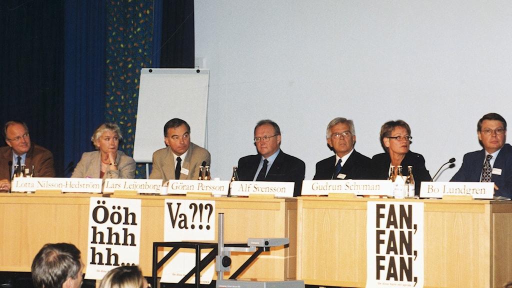 År 2000 vid det förra seminariet om läsning med partiledarna.