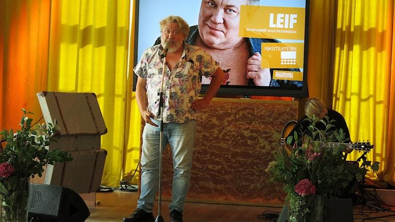 Leif Andrée ska ut på Riksteaterturné. Foto: Björn Jansson/Sveriges Radio.